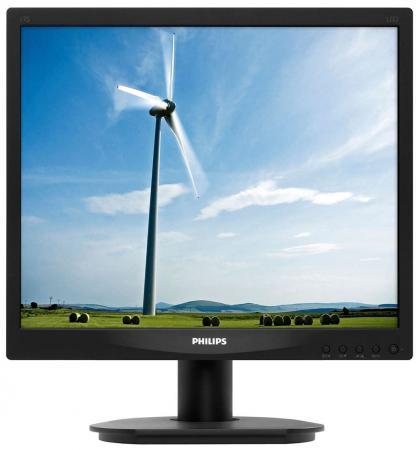 Монитор 17 Philips 17S4LSB/00/01 черный TN LED 1280x1024 1000:1 DC 10000000:1 250кд/м2 5мс VGA DVI монитор philips 17s4lsb 62 black