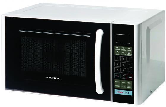 Микроволновая печь Supra MWG-2120SW 800 Вт белый чёрный supra mwg 2232tb