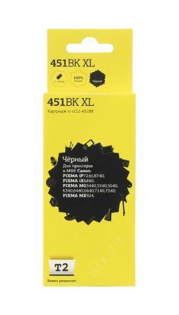 Фото - Картридж T2 IC-CCLI-451BK XL для Canon PIXMA iP7240/MG5440/6340/MX924 черный картридж canon cli 451bk 6523b001 для canon pixma ip7240 mg6340 mg5440 черный