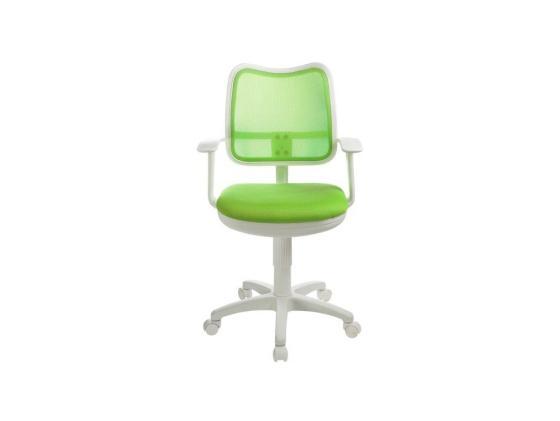 Кресло Buro CH-W797/SD/TW-18 пластик белый спинка сетка салатовый сиденье салатовый TW-18