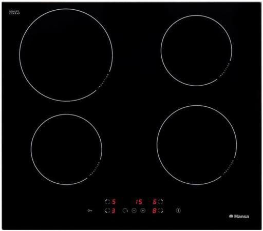 Варочная панель электрическая Hansa BHI68300 черный цена