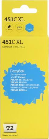 Фото - Картридж T2 IC-CCLI-451C XL для Canon PIXMA iP7240/MG5440/6340/MX924 голубой картридж canon cli 451c 6524b001 для canon pixma ip7240 mg6340 mg5440 голубой