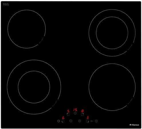 Варочная панель электрическая Hansa BHC63506 черный варочная панель электрическая hansa bhiw67303 черный