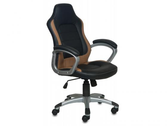 Кресло Buro CH-825S/Black+Bg пластик серебристый искусственная кожа черно-бежевый кресло buro ch 825s black rd черный красный искусственная кожа пластик серебро