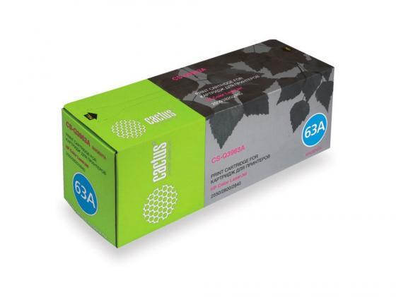цена на Картридж Cactus CS-Q3963A для HP Color LaserJet 2550/2820/2840 пурпурный 4000стр