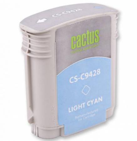 Фото - Картридж Cactus CS-C9428 №85 для HP DJ 30/130 светло-голубой 72мл картридж струйный cactus cs c9426 85 пурпурный для hp dj 30 130 29мл