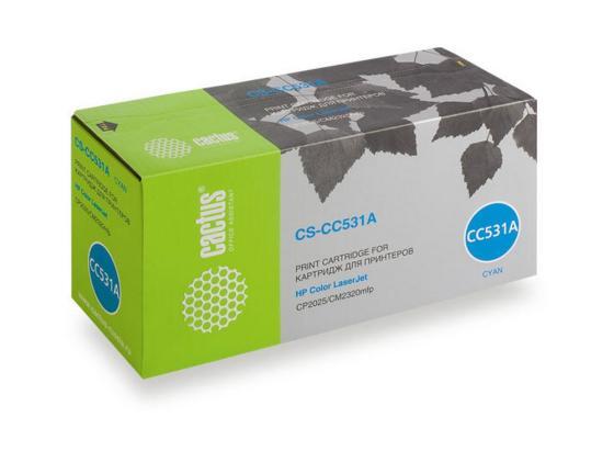 Картридж Cactus CS-CC531A для HP Color LaserJet CP2025/CM2320mfp голубой 2800стр цены онлайн