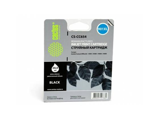 Картридж Cactus CS-CC654 №901XL для HP OfficeJet 4500/J4580/J4660/J4680 черный чернильный картридж hp 901xl cc654ae black