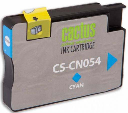 Картридж Cactus CS-CN054 №933XL для HP OfficeJet 6600 голубой 14мл картридж cactus cs cn053 932xl для hp officejet 6600 черный 40мл
