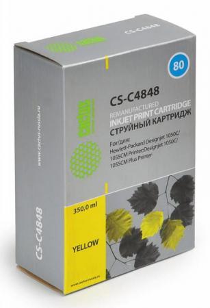 Картридж Cactus CS-C4848 для HP DesignJet 1050C/1055CM/1000 желтый картридж cactus cs c4871 для hp designjet 1050c 1055cm 1000 черный