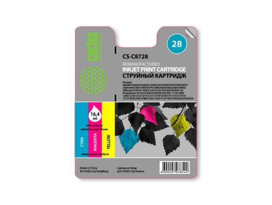 Картридж Cactus CS-C8728 для HP DeskJet 3320/3325/3420/3425/3520/3535/3550 многоцветный 450стр картридж hp 17 многоцветный [c6625a]