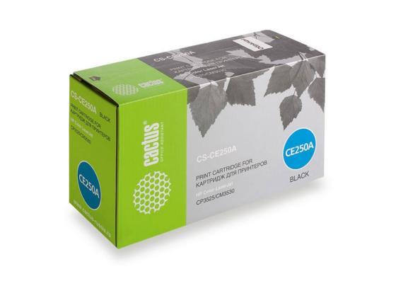 картридж ce250a Тонер-картридж Cactus CS-CE250A для HP Сolor LaserJet CP3525/CM3530 черный 5000стр