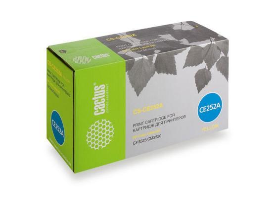 Фото - Тонер-картридж Cactus CS-CE252A для HP Сolor LaserJet CP3525/CM3530 желтый 7000стр картридж hp ce253a пурпурный для color laserjet cm3530 cp3525 7000стр