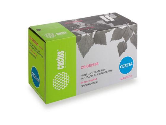 Фото - Тонер-картридж Cactus CS-CE253A для HP Сolor LaserJet CP3525/CM3530 пурпурный 7000стр картридж hp ce253a пурпурный для color laserjet cm3530 cp3525 7000стр