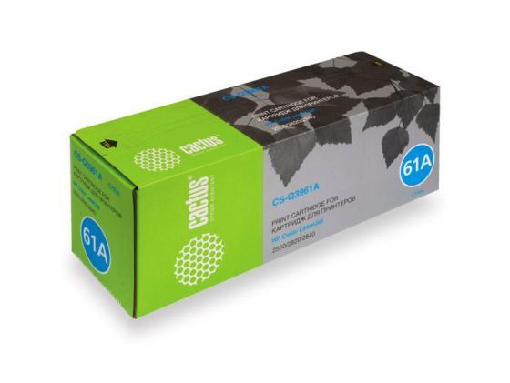 Картридж Cactus CS-Q3961A для HP Color LaserJet 2550/2820/2840 голубой 4000стр color toner cartridge q3960a q3961a q3962a q3963a for hp color laserjet 1500 1550 2500 2550 2800 2820 2840 printer