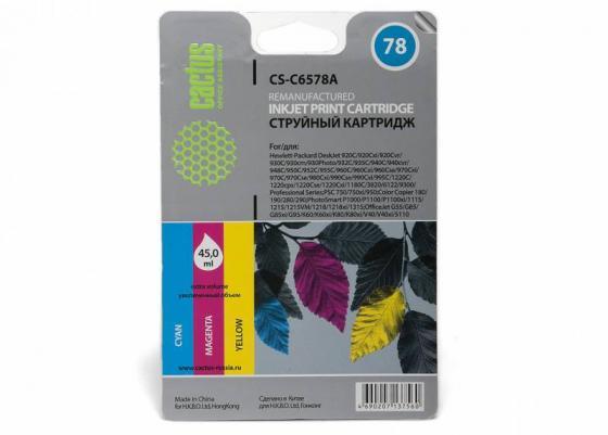 Картридж Cactus CS-C6578A №78 для HP DeskJet 900/1220C PhotoSmart P1000 цветной cactus cs c6578a color
