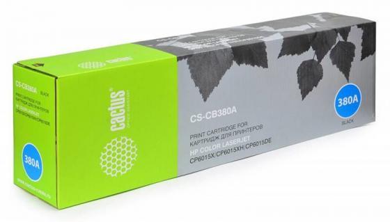 Тонер-картридж Cactus CS-CB380A для HP CLJ MFP CP6015X/6015XH/6015DE черный 16500стр картридж hp cb380a чёрный картридж cp6015