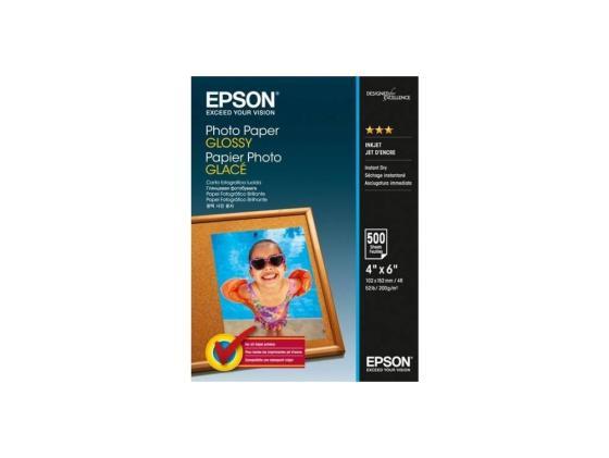 Фотобумага Epson 10х15 200г/м2 глянцевая 500л C13S042549 фотобумага epson c13s041893