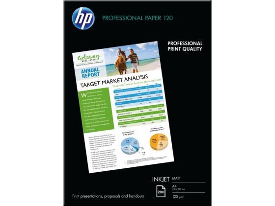 Фото - Фотобумага HP А4 120г/м2 200л матовая Q6593A фотобумага