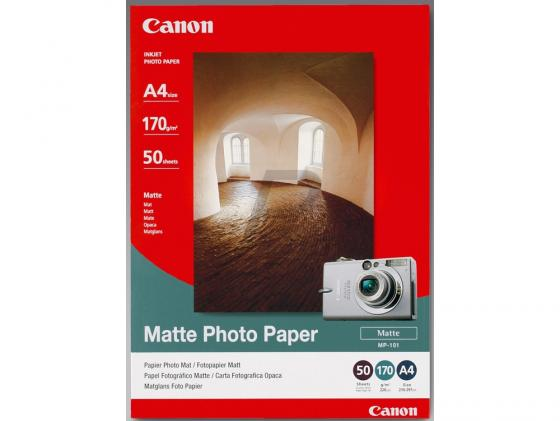 Фото - Бумага Canon МР101 А4 170 г/кв.м матовая 7981A005 50л meike fc 100 for nikon canon fc 100 macro ring flash light nikon d7100 d7000 d5200 d5100 d5000 d3200 d310
