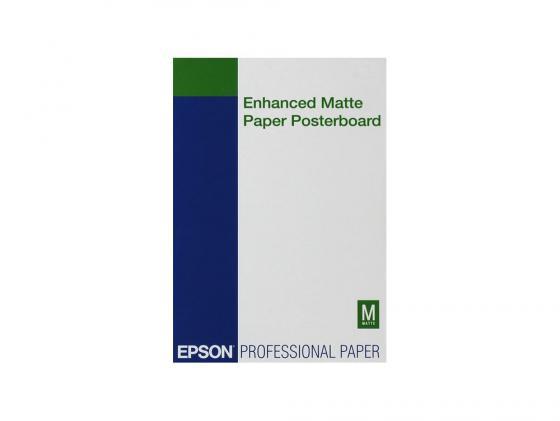 Бумага Epson Enchanced Matter Poster Board 610 x 762 мм 850 г/м2 C13S041598 бумага c13s041617 epson enchanced adhesive syntetic paper 2430 5m c13s041617