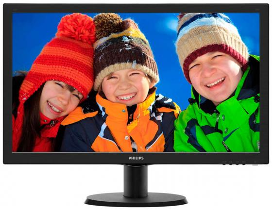 "все цены на Монитор 23.6"" Philips 243V5LAB 00/01 черный TN 1920x1080 250 cd/m^2 5 ms VGA DVI Аудио"