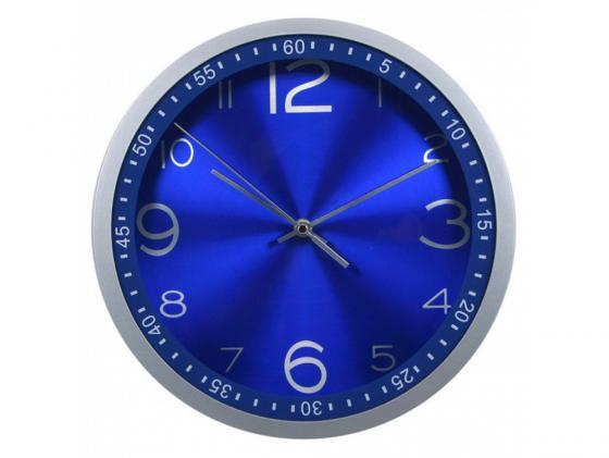 Часы Бюрократ WALLC-R05P настенные аналоговые синий все цены