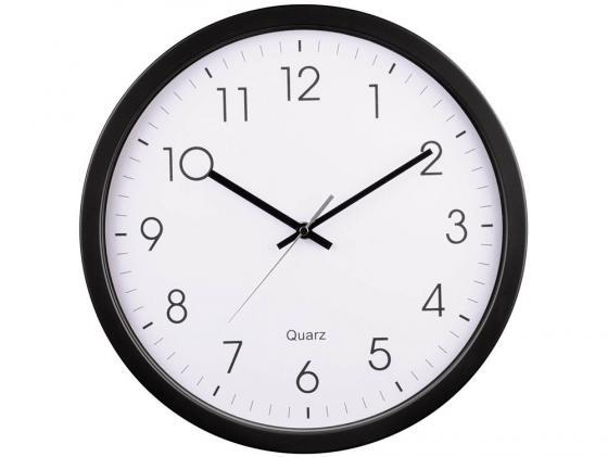 Часы Hama PG-350 H-113976 настенные аналоговые пластик черно-белый hama h 57151