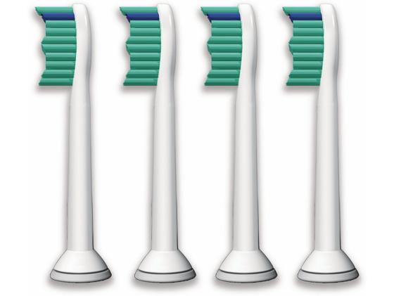 Насадка для зубной щётки Philips HX6014 для зубного центра FlexCare и звуковой щетки HealthyWhite 4шт чистящая головка для зубного центра flexcare и звуковой зубной щетки healthywhite philips hx6022 07