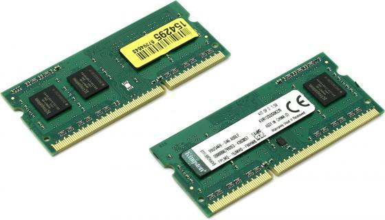 Оперативная память для ноутбука 8Gb (2x4Gb) PC3-10600 1333MHz DDR3 SO-DIMM CL9 Kingston KVR13S9S8K2/8 CL9 оперативная память для ноутбуков so ddr3 2gb pc10600 1333mhz kingston kvr13s9s6 2 cl9