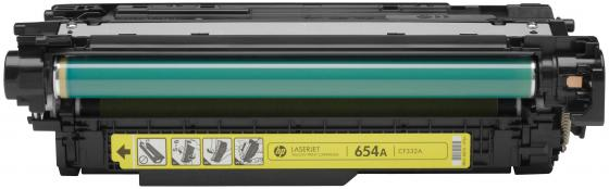 Картридж HP CF332A 654A для LaserJet Enterprise M651 желтый new paper delivery tray assembly output paper tray rm1 6903 000 for hp laserjet hp 1102 1106 p1102 p1102w p1102s printer