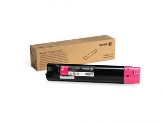 Тонер-Картридж Xerox 106R01512 для Phaser 6700 пурпурный тонер картридж xerox 106r01511 для phaser 6700 голубой