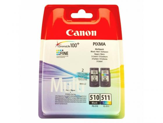 Картридж Canon PG-510/CL-511 Multipack для PIXMA MP240/260/480/ MX320/330 4pc 7200mah np f960 np f970 f970 battery packs lcd ultra fast dual charger plug kits for sony np f550 np f770 np f750 f960 f970