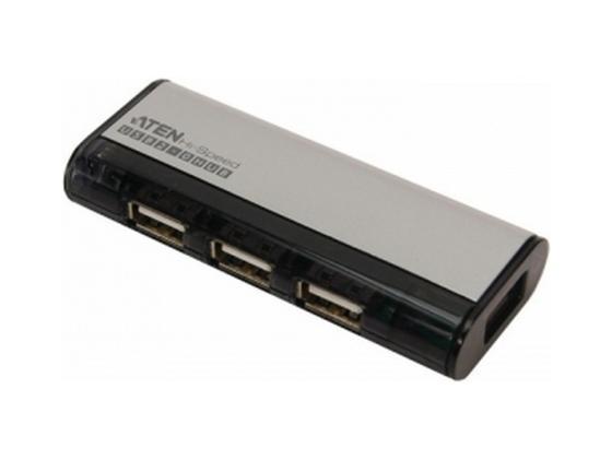 Концентратор USB 2.0 Aten UH284Q6/UH284Q9Z 4 x USB 2.0 черный aten uc232a chip usb to rs232 usb a10 com of taiwan 1pcs