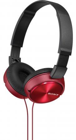 Наушники Sony MDR-ZX310 красный sony sony mdr zx310 гарнитура стерео наушники слушать наушники синий