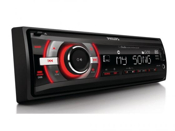 Автомагнитола Philips CE133R/51 бездисковая USB MP3 FM RDS SD MMC SDHC 1DIN 4x50Вт черный автомагнитола mystery mar 877uc бездисковая usb mp3 fm sd mmc 1din 4x50вт пульт ду черный