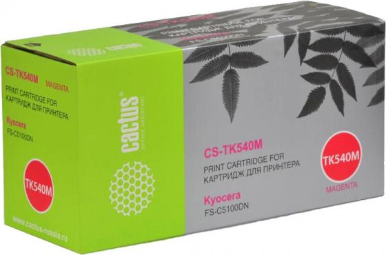 Тонер-картридж Cactus CS-TK540М для FS-C5100DN пурпурный 4000стр