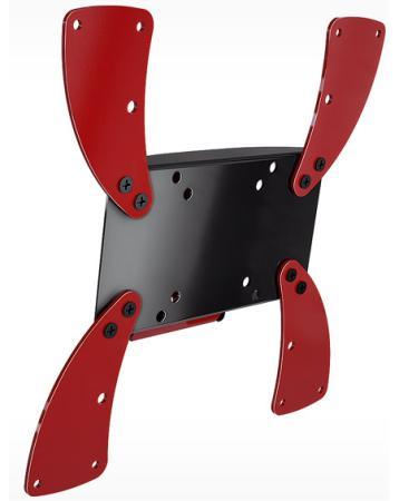 Кронштейн Holder LCDS-5058 черно-красный для ЖК ТВ 19-37 настенный от стены 37мм наклон 10° VESA 300x300 до 30 кг кронштейн north bayou t3260 для жк тв 32 60 потолочный высота 900 1500мм наклон 20° 2° поворот 360° vesa 400x600 до 45 5 кг серебристый