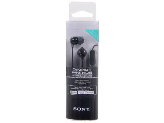 Гарнитура Sony MDR-EX15APB черный беспроводные стереонаушники sony mdr zx330bt черный