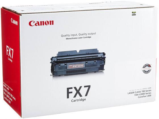 Картридж Canon FX-7 для FAX-L2000 FAX-L2000IP черный lcl fx9 fx 9 3 pack black toner cartridge compatible for canon fax l 100 l 120 faxphone 120 mf4150 fax l905a i sensys 4120