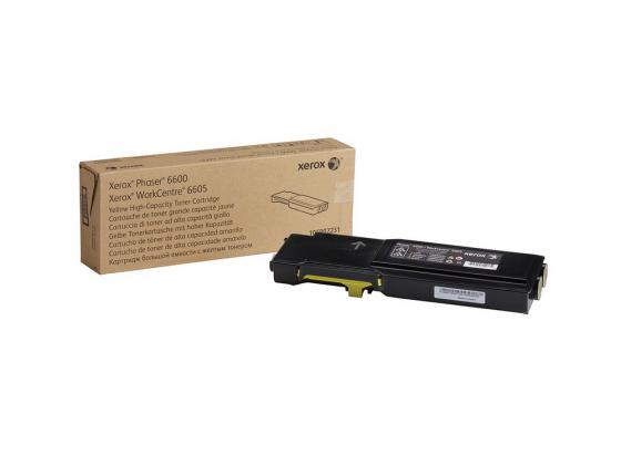 Тонер-Картридж Xerox 106R02235 для P6600/WC 6605 желтый тонер картридж wc pro 315 320 415 420 2x6000 pages 006r01044