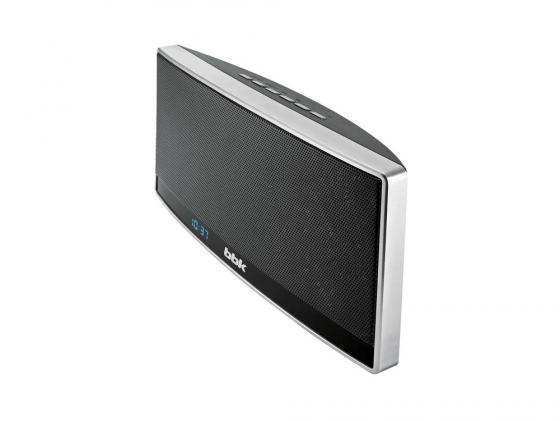 Портативная акустика BBK BTA115 черный/серебристый металлик фен bbk bhd3223i черный металлик bhd3223i черный металлик