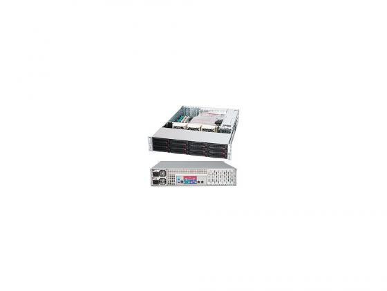 Серверный корпус 2U Supermicro CSE-826E26-R1200LPB 1200 Вт чёрный серверный корпус 2u supermicro cse 216be16 r920lpb 920 вт чёрный