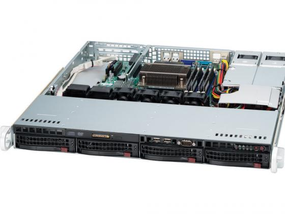 Серверный корпус 1U Supermicro CSE-813MTQ-R400CB 400 Вт чёрный корпус серверный