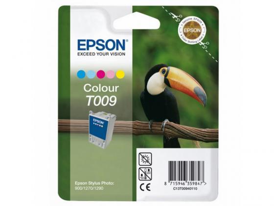 Картридж Epson C13T00940110 для Stylus Photo 900/1270/1290 цветной 330стр картридж c13t00940210 epson 2хc13t009401 для stylus photo 1270 1290 900 цветной c13t00940210