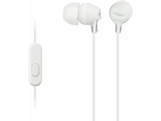 Гарнитура Sony MDR-EX15APW/Z белый цена и фото