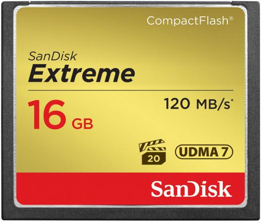Карта памяти Compact Flash Card 16Gb SanDisk Extreme SDCFXS-016G-X46