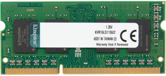 Оперативная память для ноутбуков SO-DDR3 2Gb PC12800 1600MHz Kingston KVR16S11S6/2 free shipping 100pcs new original tlp521 2 tlp521 2gb tlp521 2gr dip8 optocouplers 100