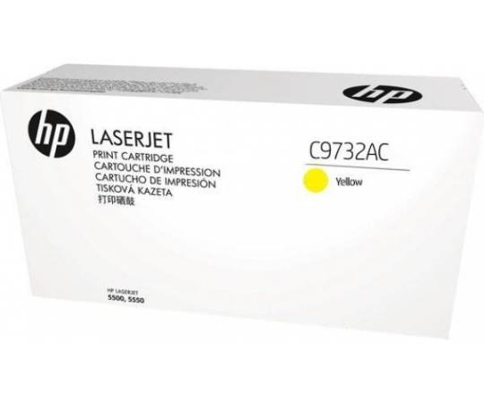 Фото - Картридж HP C9732AC для LaserJet 5500 желтый 12000стр картридж hp c9731ac для hp laserjet 5500 голубой 12000стр