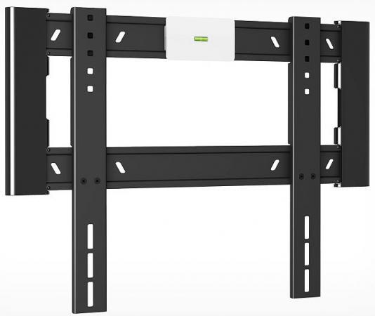 Кронштейн Holder LCD-F4607-B черный для ЖК ТВ 32-65 настенный от стены 18мм наклон 0° VESA 400x400 до 40 кг стенка модерн 10